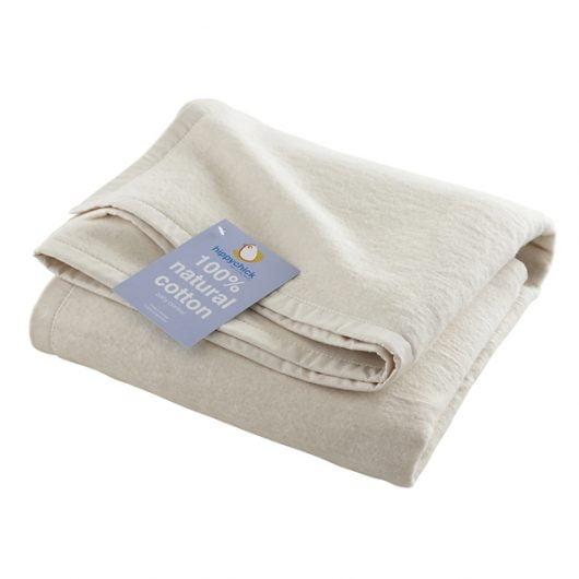 Hippychick Organic Cotton Fleece Baby Blanket 100x150cm
