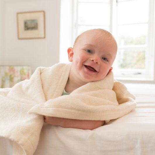 Hippychick Organic Cotton Fleece Baby Pram Blanket 75x100cm