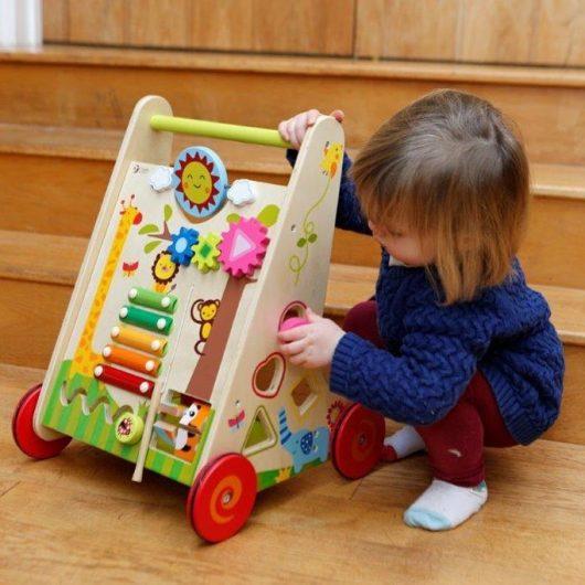 child's wooden walker