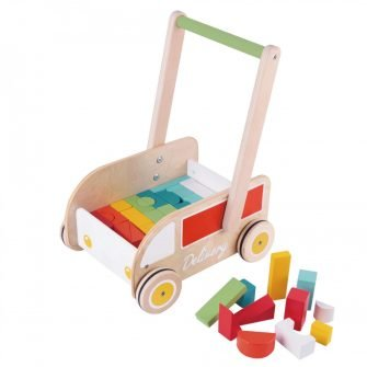Classic World Delivery Truck Baby Walker With Blocks