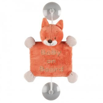 Nattou Baby on Board Sign - Oscar the Fox