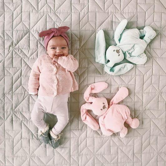 Nattou Plush Lapidou Cuddly - Light Pink