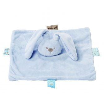 Nattou Plush Lapidou Mini Doudou - Light Blue