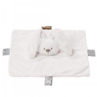 Nattou Plush Lapidou Mini Doudou - White