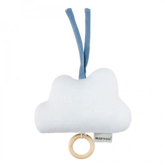 Nattou Pure Musical Hanging Toy Blue