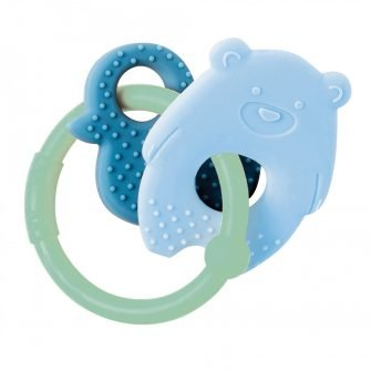 Nattou Silicone Teether Bear & Duck Green Ring