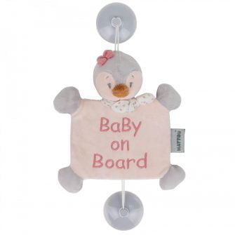 Nattou Baby on Board Sign - Sasha the Penguin