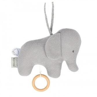 Nattou Tembo Elephant Musical 21cm Grey