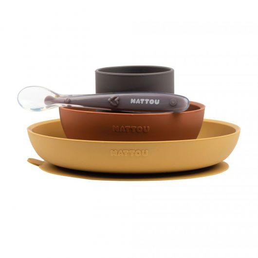 Nattou Silicone Tableware Set